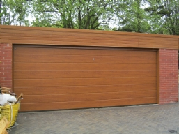 Wood Effect Sectional Doors